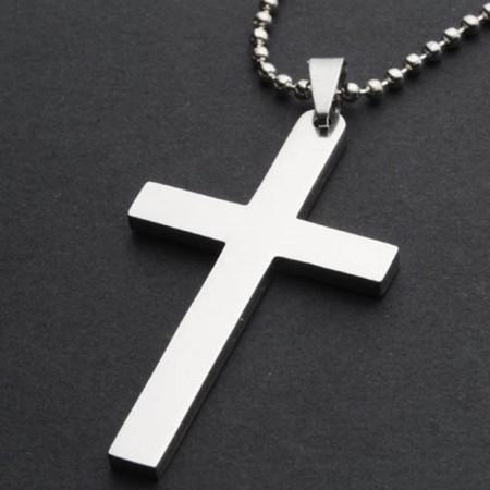 Kereszt Keresztes Rozsdamentes Acél Nyaklánc 05