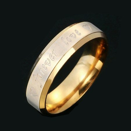 Forever Love Szíves Öröké Szeretlek Rozsdamentes Acél Gyűrű