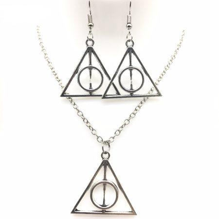 Harry Potter És A Halál Ereklyéi Nyaklánc + Fülbevaló Szett